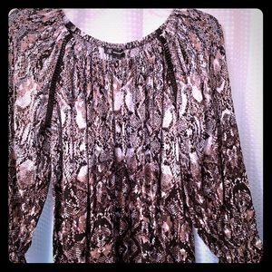 Animal print women's top